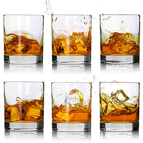 Whiskey Glasses Premium 11 OZ Scotch Glasses Set Of 6 Old Fashioned Whiskey GlassesPerfect Idea For Scotch LoversStyle Glassware For BourbonRum GlassesBar Whiskey GlassesClear 0