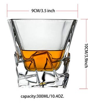 Whiskey Glasses Set Of 2 Thick Weighted Bottom Rocks Glasses 10 Oz Old Fashioned Whiskey Glass Premium Scotch Glasses Perfect For Bourbon Old Fashioned Scotch And Cocktails 0 0 300x360