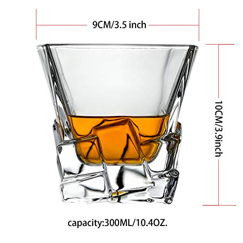 Whiskey Glasses Set Of 2 Thick Weighted Bottom Rocks Glasses 10 Oz Old Fashioned Whiskey Glass Premium Scotch Glasses Perfect For Bourbon Old Fashioned Scotch And Cocktails 0 0
