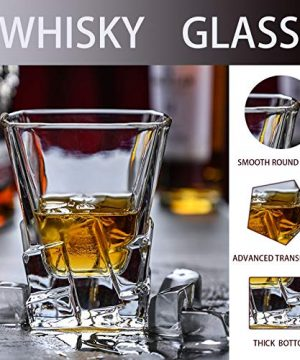Whiskey Glasses Set Of 2 Thick Weighted Bottom Rocks Glasses 10 Oz Old Fashioned Whiskey Glass Premium Scotch Glasses Perfect For Bourbon Old Fashioned Scotch And Cocktails 0 1 300x360