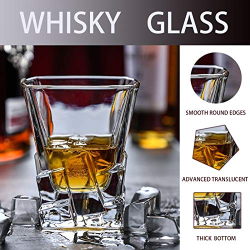 Whiskey Glasses Set Of 2 Thick Weighted Bottom Rocks Glasses 10 Oz Old Fashioned Whiskey Glass Premium Scotch Glasses Perfect For Bourbon Old Fashioned Scotch And Cocktails 0 1