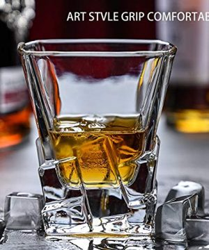 Whiskey Glasses Set Of 2 Thick Weighted Bottom Rocks Glasses 10 Oz Old Fashioned Whiskey Glass Premium Scotch Glasses Perfect For Bourbon Old Fashioned Scotch And Cocktails 0 3 300x360