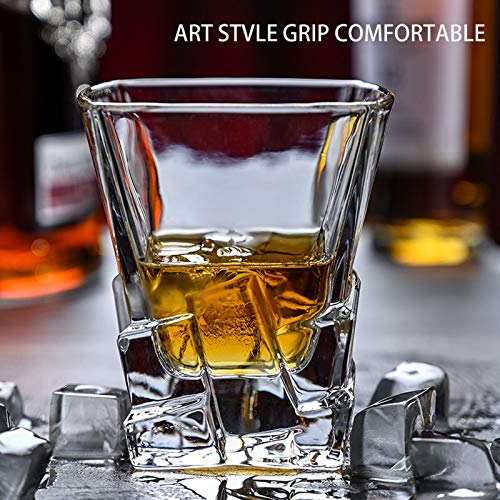 Whiskey Glasses Set Of 2 Thick Weighted Bottom Rocks Glasses 10 Oz Old Fashioned Whiskey Glass Premium Scotch Glasses Perfect For Bourbon Old Fashioned Scotch And Cocktails 0 3