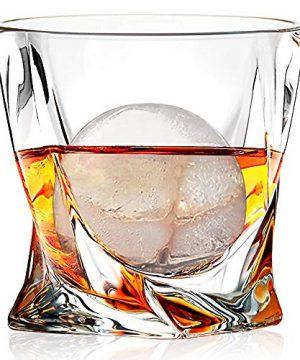 Whiskey Glasses Set Of 4 Scotch Glass Tumblers 10 Oz Free Crystal Glass Tasting Cups For Drinking Scotch Bourbon Malt Cognac Irish Whisky Gift 0 0 300x360