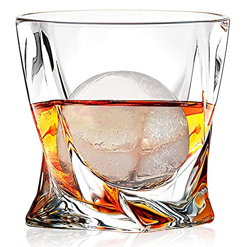 Whiskey Glasses Set Of 4 Scotch Glass Tumblers 10 Oz Free Crystal Glass Tasting Cups For Drinking Scotch Bourbon Malt Cognac Irish Whisky Gift 0 0