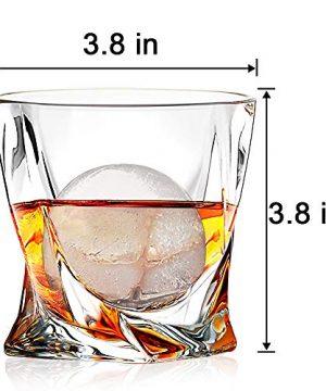 Whiskey Glasses Set Of 4 Scotch Glass Tumblers 10 Oz Free Crystal Glass Tasting Cups For Drinking Scotch Bourbon Malt Cognac Irish Whisky Gift 0 1 300x360