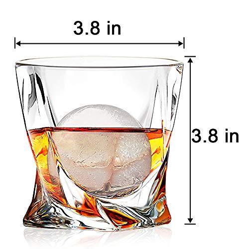 Whiskey Glasses Set Of 4 Scotch Glass Tumblers 10 Oz Free Crystal Glass Tasting Cups For Drinking Scotch Bourbon Malt Cognac Irish Whisky Gift 0 1