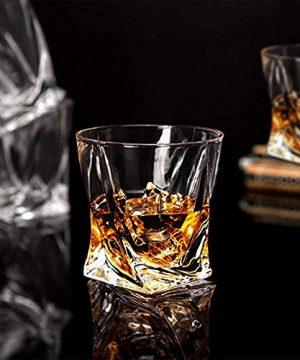 Whiskey Glasses Set Of 4 Scotch Glass Tumblers 10 Oz Free Crystal Glass Tasting Cups For Drinking Scotch Bourbon Malt Cognac Irish Whisky Gift 0 2 300x360