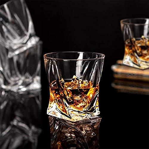 Whiskey Glasses Set Of 4 Scotch Glass Tumblers 10 Oz Free Crystal Glass Tasting Cups For Drinking Scotch Bourbon Malt Cognac Irish Whisky Gift 0 2