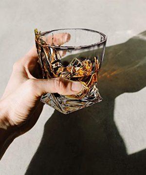 Whiskey Glasses Set Of 4 Scotch Glass Tumblers 10 Oz Free Crystal Glass Tasting Cups For Drinking Scotch Bourbon Malt Cognac Irish Whisky Gift 0 3 300x360