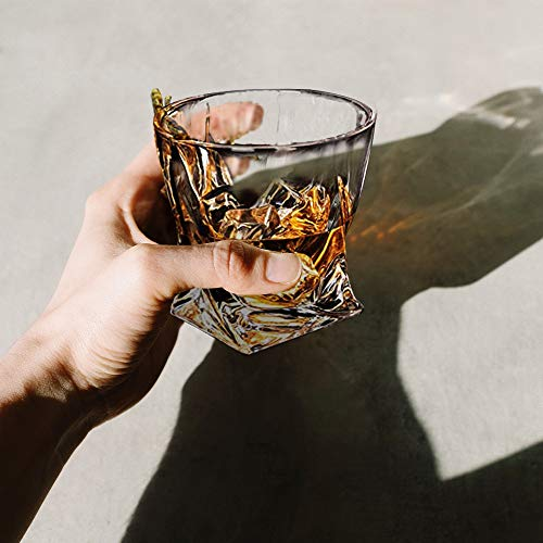 Whiskey Glasses Set Of 4 Scotch Glass Tumblers 10 Oz Free Crystal Glass Tasting Cups For Drinking Scotch Bourbon Malt Cognac Irish Whisky Gift 0 3