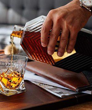 Whiskey Glasses Set Of 4 Scotch Glass Tumblers 10 Oz Free Crystal Glass Tasting Cups For Drinking Scotch Bourbon Malt Cognac Irish Whisky Gift 0 5 300x360