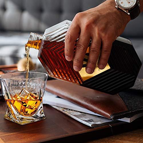 Whiskey Glasses Set Of 4 Scotch Glass Tumblers 10 Oz Free Crystal Glass Tasting Cups For Drinking Scotch Bourbon Malt Cognac Irish Whisky Gift 0 5