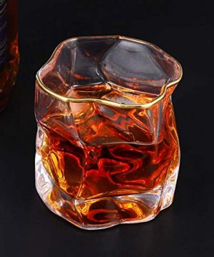 Whiskey Glasses Stylish 10 OZ Set Of 2 Thick Bottom Old Fashioned Rock Drinking Glassware Perfect For Scotch Bourbon And Cocktail Tumblers Fathers Day GiftClear 0 1 300x360