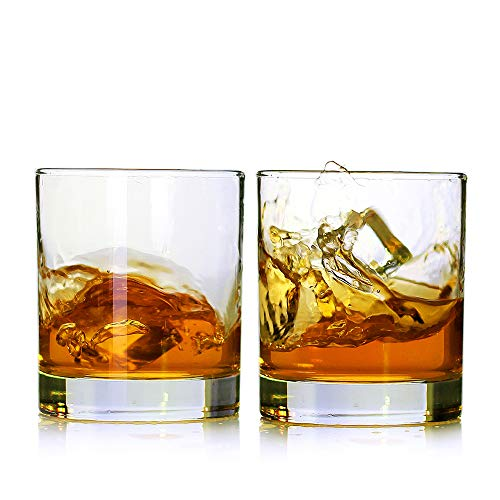 Whiskey GlassesSet Of 211 OzPremium Scotch GlassesBourbon Glasses For CocktailsRock Style Old Fashioned Drinking GlasswarePerfect For Fathers Day GiftsPartyBars Restaurants And Home 0