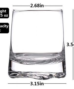 Zfitei Ripple Whiskey Glasses Set Of 2Hand Blown Crystal Glasses8oz Thick Weighted Bottom Rocks GlassPerfect For Old Fashioned CocktailBourbonScotch 0 0 300x360