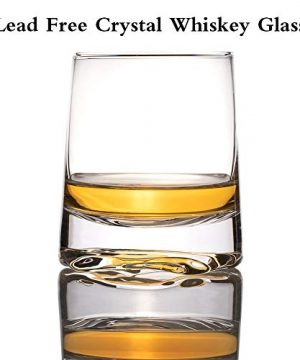 Zfitei Ripple Whiskey Glasses Set Of 2Hand Blown Crystal Glasses8oz Thick Weighted Bottom Rocks GlassPerfect For Old Fashioned CocktailBourbonScotch 0 2 300x360