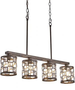 4 Light Farmhouse Kitchen Light Fixtures Rustic Chandelier With Oil Rubbed Bronze Finish Island Pendant Lighting For Dining Room And Bar 0 300x360