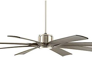 70 The Defender Modern Outdoor Ceiling Fan With Light LED Dimmable Remote Control Brushed Nickel Light Wood Blades Damp Rated For Patio Porch Possini Euro Design 0 5 300x187