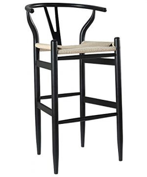 Amazon Brand Stone Beam Wishbone Barstool 422H Beech Wood Black Natural 0 300x360