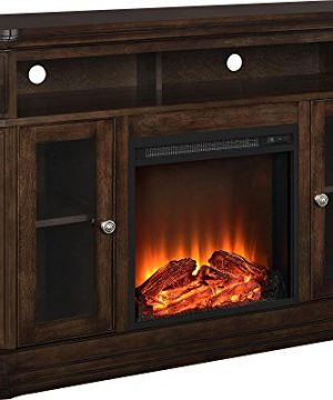 Ameriwood Home Brooklyn Electric Fireplace TV Console For TVs Up To 50 Espresso 0 300x360