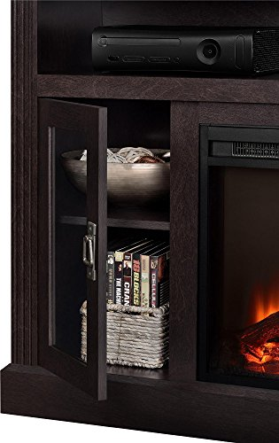 Ameriwood Home Chicago Electric Fireplace TV Console For TVs Up To A 50 Espresso1764096PCOM 0 0