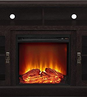 Ameriwood Home Chicago Electric Fireplace TV Console For TVs Up To A 50 Espresso1764096PCOM 0 1 300x333