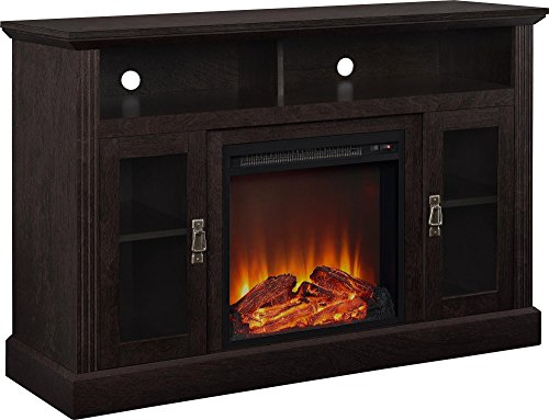 Ameriwood Home Chicago Electric Fireplace TV Console For TVs Up To A 50 Espresso1764096PCOM 0