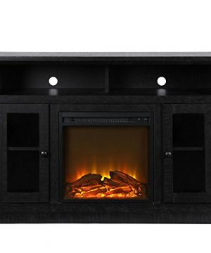 Ameriwood Home Chicago Fireplace TV Stand For TVs Up To 50 Black 0 300x360