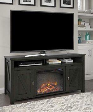 Ameriwood Home Farmington Electric Fireplace Console 60 Black Oak TV Stand 0 300x360
