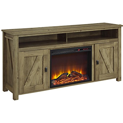 Ameriwood Home Farmington Electric Fireplace TV Console For TVs Up To 60 Natural 0 0