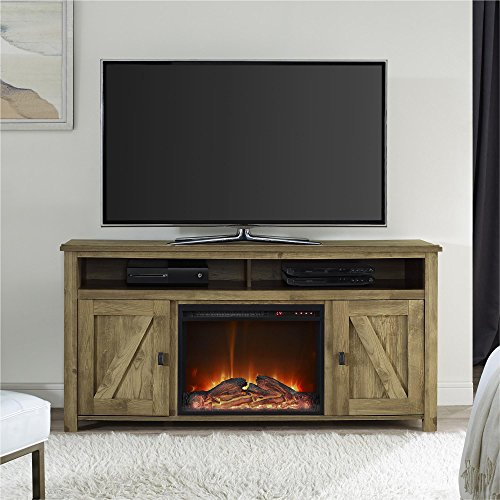 Ameriwood Home Farmington Electric Fireplace TV Console For TVs Up To 60 Natural 0 2