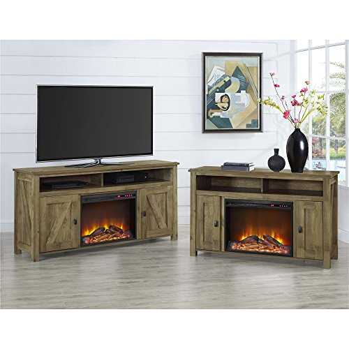 Ameriwood Home Farmington Electric Fireplace TV Console For TVs Up To 60 Natural 0 3