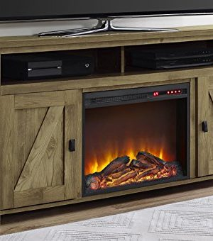 Ameriwood Home Farmington Electric Fireplace TV Console For TVs Up To 60 Natural 0 300x340