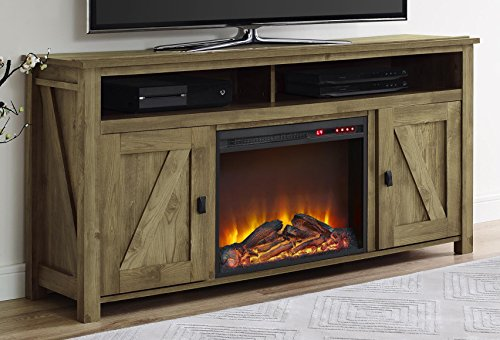 Ameriwood Home Farmington Electric Fireplace TV Console For TVs Up To 60 Natural 0