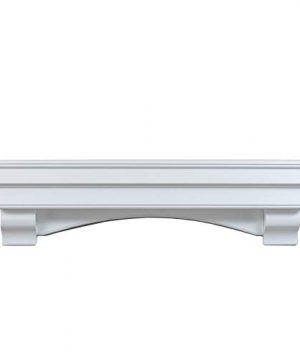 Ashley Hearth ASHTRMK W 60 In X 10 In Traditional Hearth Mantel In Smooth White Finish 0 0 300x360