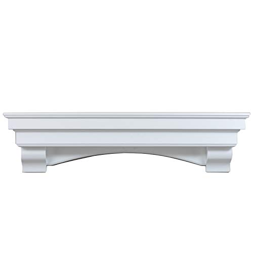 Ashley Hearth ASHTRMK W 60 In X 10 In Traditional Hearth Mantel In Smooth White Finish 0 0