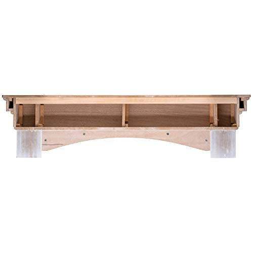 Ashley Hearth ASHTRMK W 60 In X 10 In Traditional Hearth Mantel In Smooth White Finish 0 1