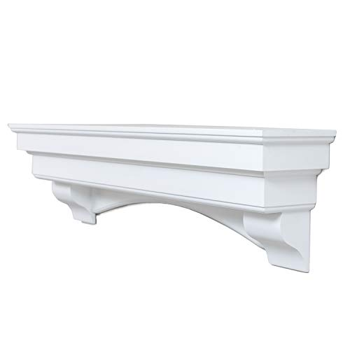 Ashley Hearth ASHTRMK W 60 In X 10 In Traditional Hearth Mantel In Smooth White Finish 0