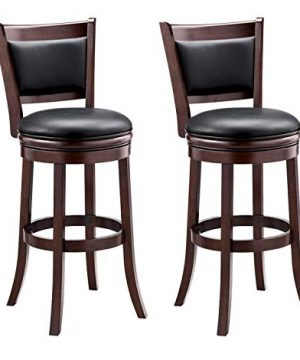 Ball Cast Bar Height Pack Of 2 Swivel Stool 29 Inch2 Pack Cappuccino 0 300x360