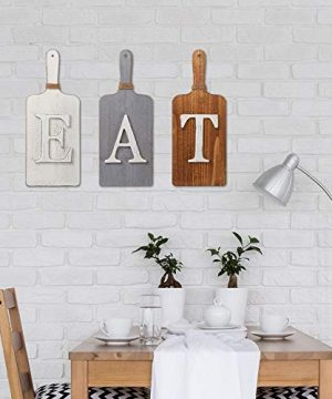 Barnyard Designs Cutting Board Eat Sign Rustic Hanging Wall Decor Primitive Country Farmhouse Home And Kitchen Decor Multicolor WhiteGreyBrown Set Of 3 6 X 15 Boards 0 0 300x360