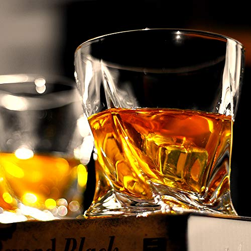 Bavel Whiskey Glasses 10 OZ Premium Shaped Scotch Glasses Set Of 4Glassware SetTumblers For Drinking Bourbon Whiskey Cognac Irish WhiskyVintage Elegant Whiskey Glass 10 OZ 0 0
