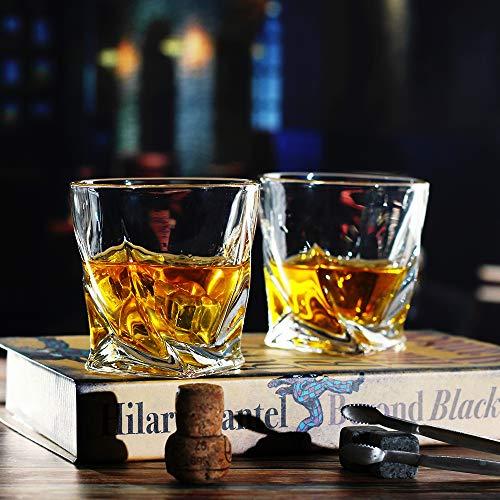 Bavel Whiskey Glasses 10 OZ Premium Shaped Scotch Glasses Set Of 4Glassware SetTumblers For Drinking Bourbon Whiskey Cognac Irish WhiskyVintage Elegant Whiskey Glass 10 OZ 0 1