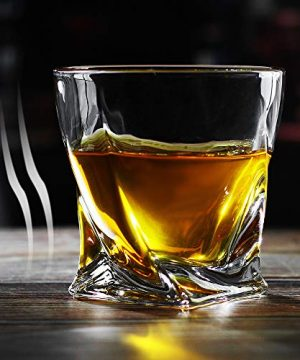 Bavel Whiskey Glasses 10 OZ Premium Shaped Scotch Glasses Set Of 4Glassware SetTumblers For Drinking Bourbon Whiskey Cognac Irish WhiskyVintage Elegant Whiskey Glass 10 OZ 0 2 300x360