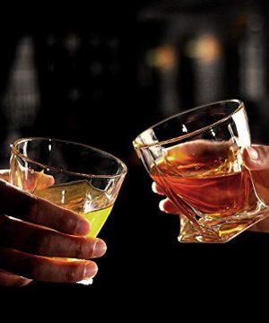 Bavel Whiskey Glasses 10 OZ Premium Shaped Scotch Glasses Set Of 4Glassware SetTumblers For Drinking Bourbon Whiskey Cognac Irish WhiskyVintage Elegant Whiskey Glass 10 OZ 0 3 300x360