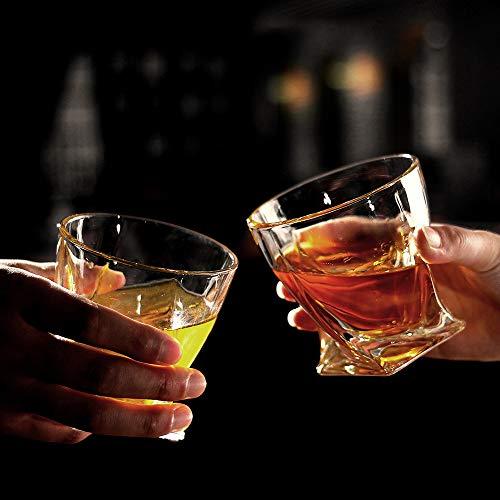 Bavel Whiskey Glasses 10 OZ Premium Shaped Scotch Glasses Set Of 4Glassware SetTumblers For Drinking Bourbon Whiskey Cognac Irish WhiskyVintage Elegant Whiskey Glass 10 OZ 0 3