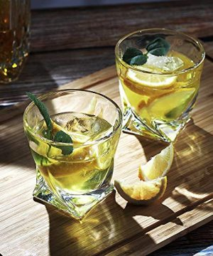 Bavel Whiskey Glasses 10 OZ Premium Shaped Scotch Glasses Set Of 4Glassware SetTumblers For Drinking Bourbon Whiskey Cognac Irish WhiskyVintage Elegant Whiskey Glass 10 OZ 0 4 300x360