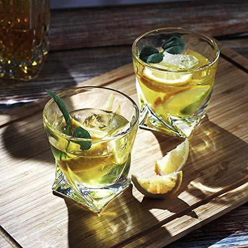 Bavel Whiskey Glasses 10 OZ Premium Shaped Scotch Glasses Set Of 4Glassware SetTumblers For Drinking Bourbon Whiskey Cognac Irish WhiskyVintage Elegant Whiskey Glass 10 OZ 0 4