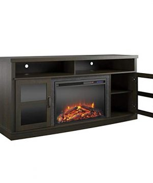 Beaumont Lane Electric Fireplace Heater TV Stand Console Up To 65 In Espresso 0 300x360