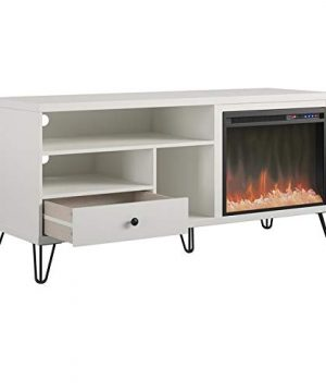 Beaumont Lane Electric Fireplace Heater TV Stand Console Up To 65 In White 0 300x360
